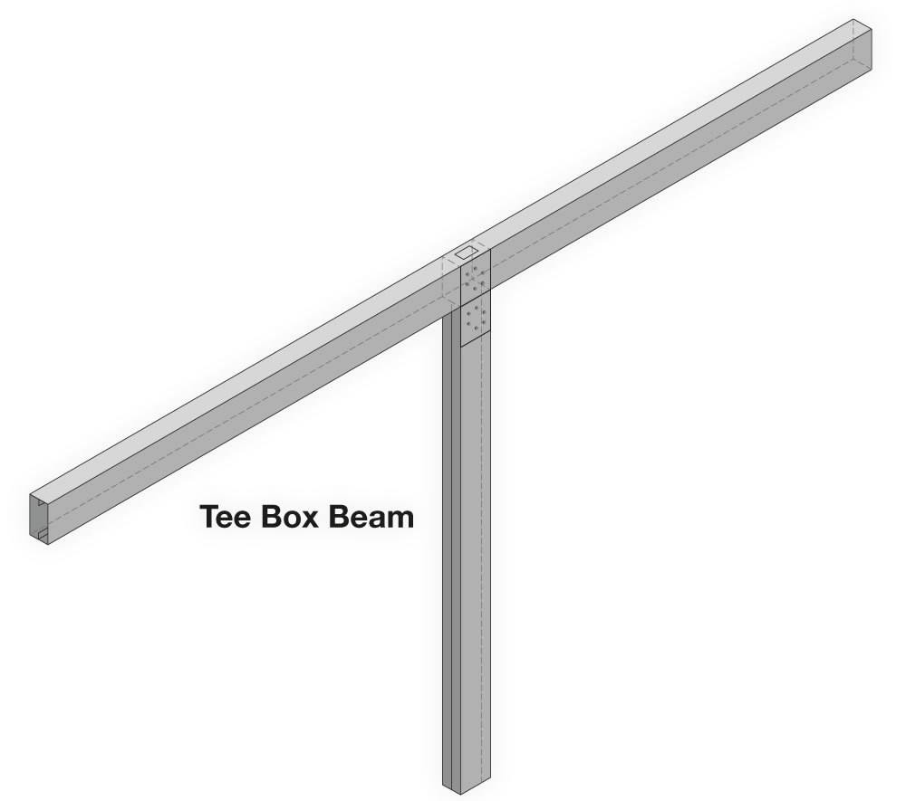 Tee Box Beam Carport Frame